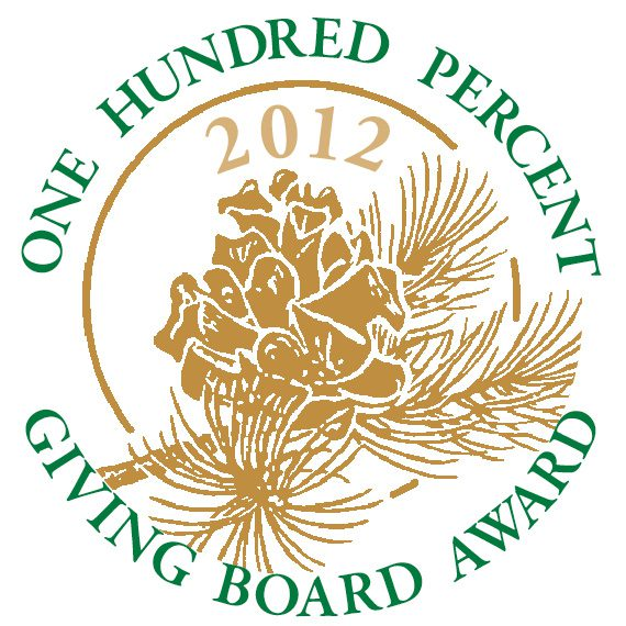 One Hundred Percent Giving Board Award 2012