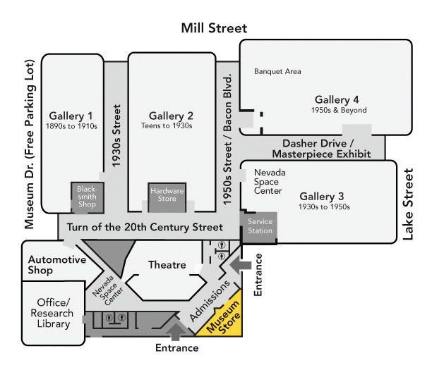 Museum Store Map