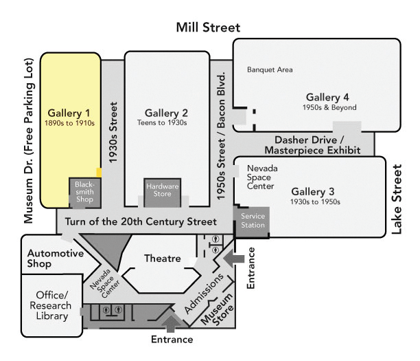 Gallery 1 Map