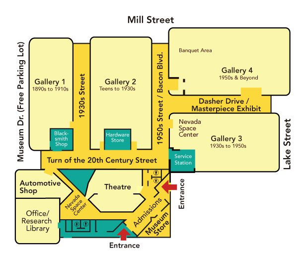 National Automobile Museum Map